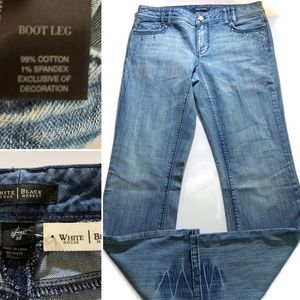 White House Black Market Jeans  8R BOOTLEG STRETCH